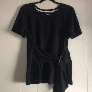 Black fashion knit top
